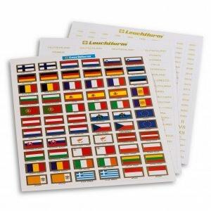 Planche d'étiquettes euro
